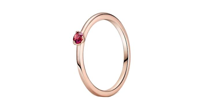 Red Solitaire Ring