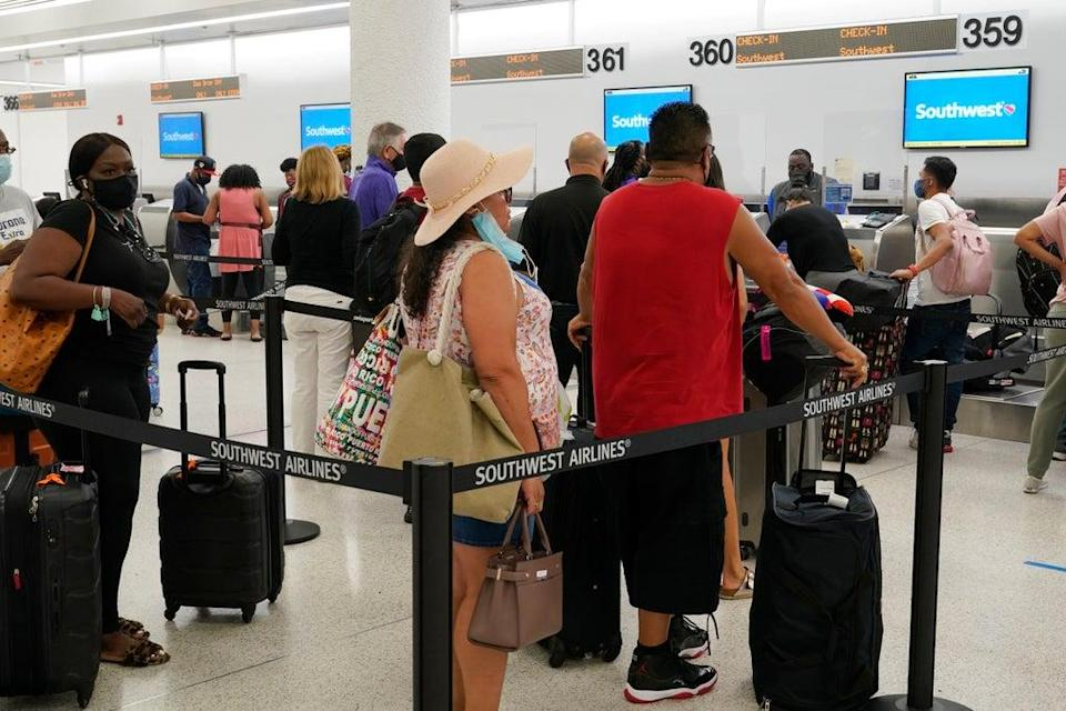 Southwest Airlines Canceled Flights (Copyright 2021 The Associated Press. All Rights Reserved.)