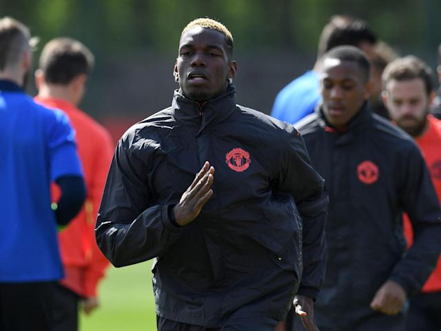 Paul Pogba was among a number of key players to return to training on Wednesday: AFP