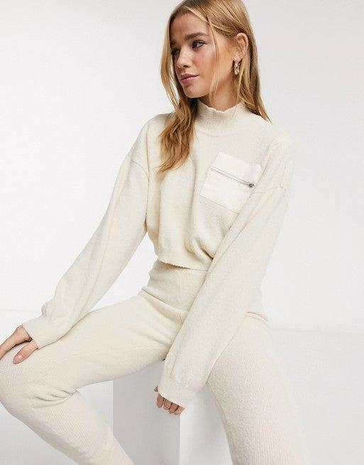 "<h3><a href=""https://www.asos.com/us/asos-design/asos-design-lounge-two-piece-fluffy-sweater-with-contrast-pocket/prd/13380785?"" rel=""nofollow noopener"" target=""_blank"" data-ylk=""slk:Two-piece Fluffy Lounge Set"" class=""link rapid-noclick-resp"">Two-piece Fluffy Lounge Set</a></h3><br><br><strong>ASOS DESIGN</strong> Two-piece Fluffy Lounge Set, $, available at <a href=""https://go.skimresources.com/?id=30283X879131&url=https%3A%2F%2Fwww.asos.com%2Fus%2Fasos-design%2Fasos-design-lounge-two-piece-fluffy-sweater-with-contrast-pocket%2Fprd%2F13380785%3F"" rel=""nofollow noopener"" target=""_blank"" data-ylk=""slk:ASOS"" class=""link rapid-noclick-resp"">ASOS</a>"