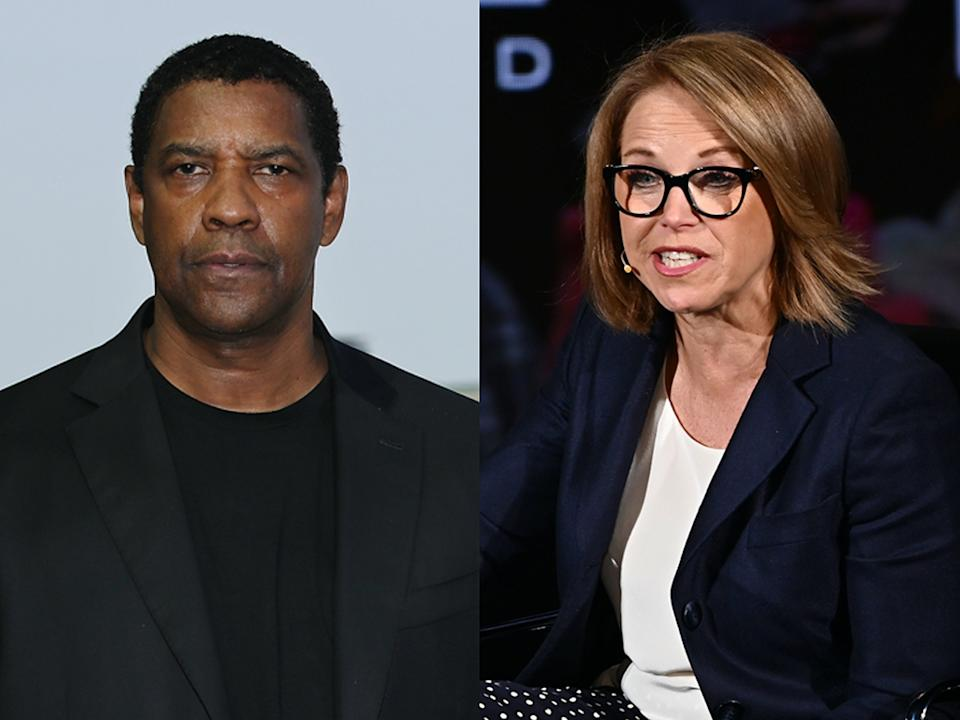 """Katie Couric remembers tense exchange with Denzel Washington that was """"uncalled for."""""""