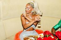 <p>Saweetie celebrates at the Boom Boom Room in N.Y.C. on Sept. 12 after being named MAC Cosmetics' newest Global Brand Ambassador.</p>