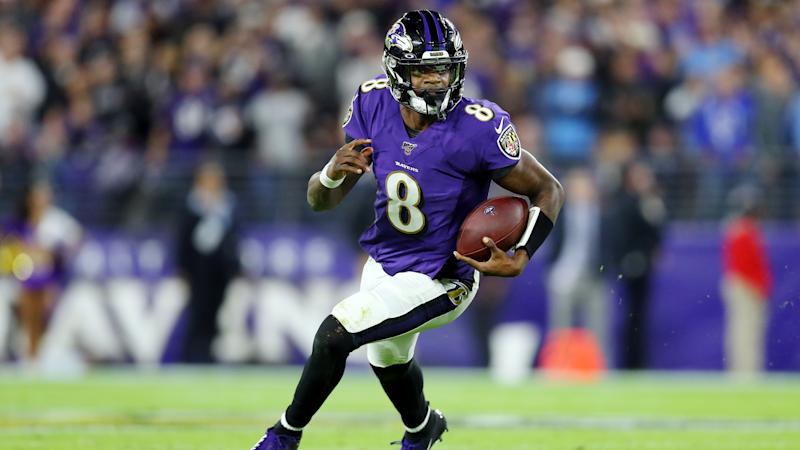 Baltimore Ravens quarterback Lamar Jackson was revolutionary in 2019 en route to winning NFL MVP unanimously and it's hard to see him stopping anytime soon. (Maddie Meyer/Getty Images)