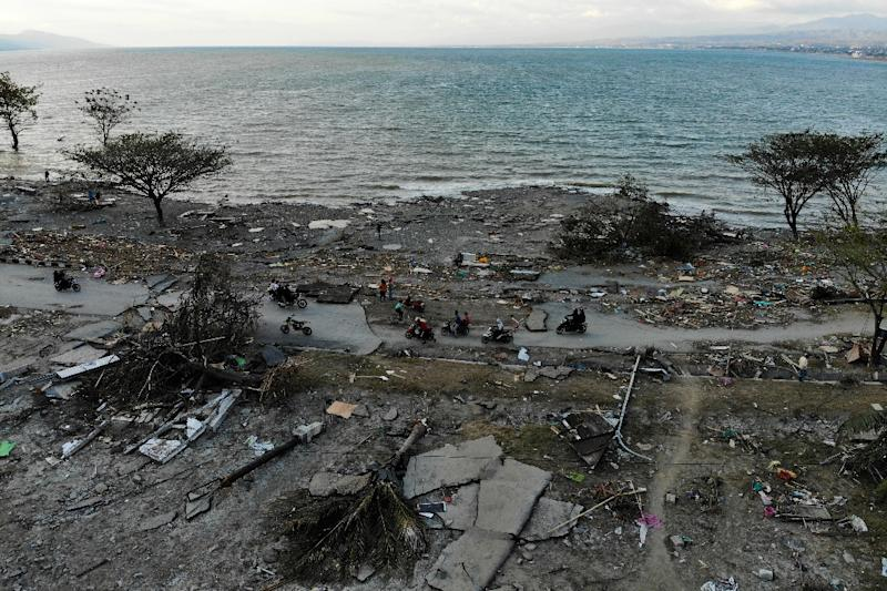 The tsunami crashed into the seaside city of Palu (AFP Photo/Jewel SAMAD)