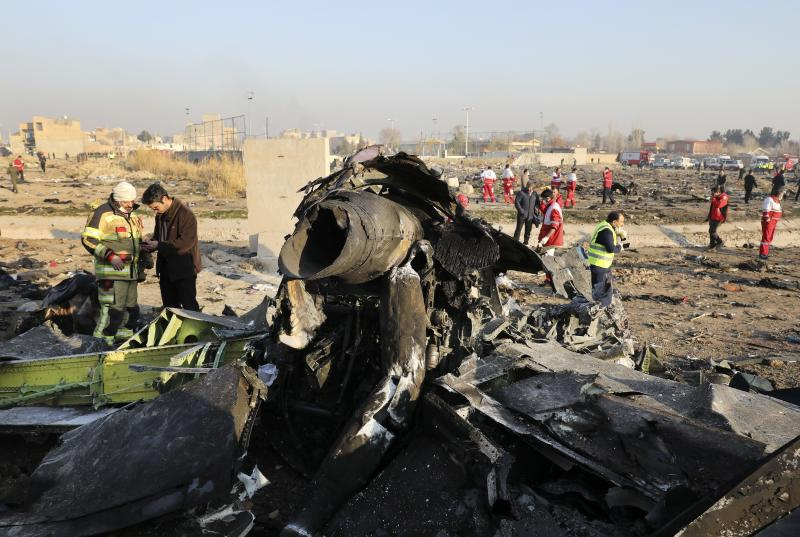 The crash of a Ukrainian jetliner near Tehran this week that killed all 176 on board comes. Source: AP Photo/Ebrahim Noroozi