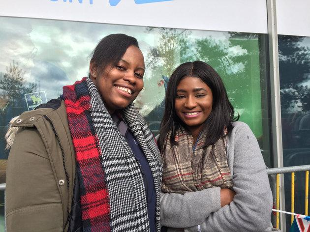 Royal well-wishers Omo and Kathy in Birmingham