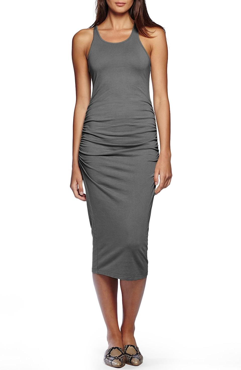 <p>This <span>Michael Stars Racerback Midi Dress</span> ($88) is one of those dresses that once you try it on, you'll never want to take it off.</p>