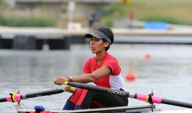 Saiyidah Aisyah is Singapore's sole representative in the sport of rowing at the 2013 SEA Games. (Photo: Croker Oars/Aisyah's Facebook)