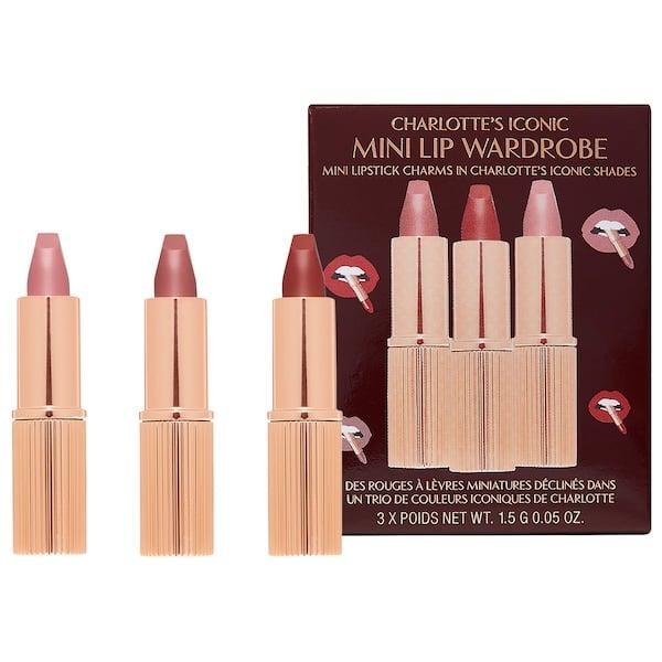 <p>The <span>Charlotte Tilbury Mini Iconic Matte Revolution Lipstick Trio</span> ($29) is a stunning lip trio.</p>