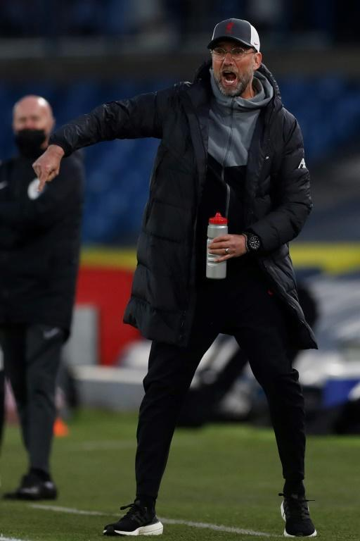 Awkward position - Liverpool manager Jurgen Klopp on the touchline at Elland Road
