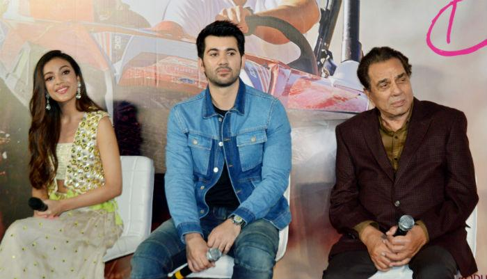 Karan Deol at the trailer launch of his new movie