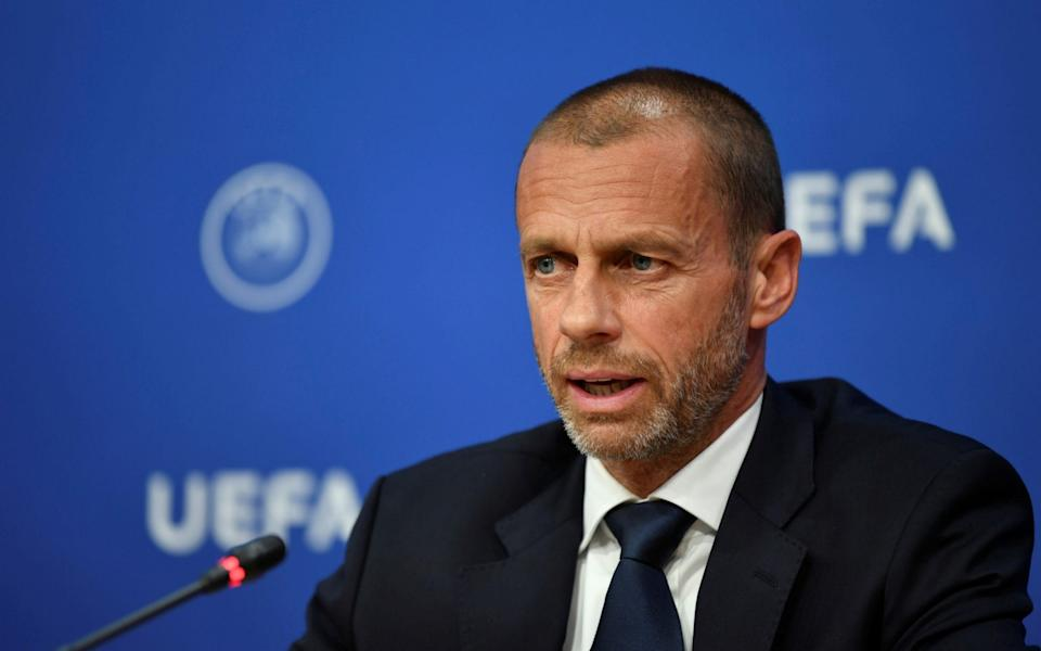 UEFA president Aleksander Ceferin during a press conference following the UEFA Executive Committee - Reuters