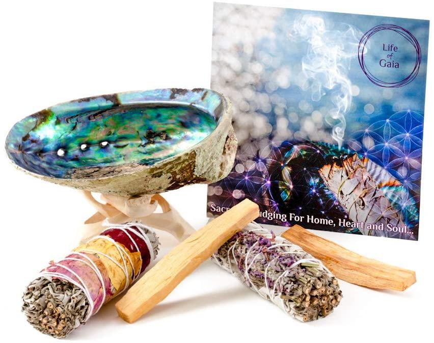 LIFE OF GAIA Sage Smudge Kit for Home Cleansing and Positivity