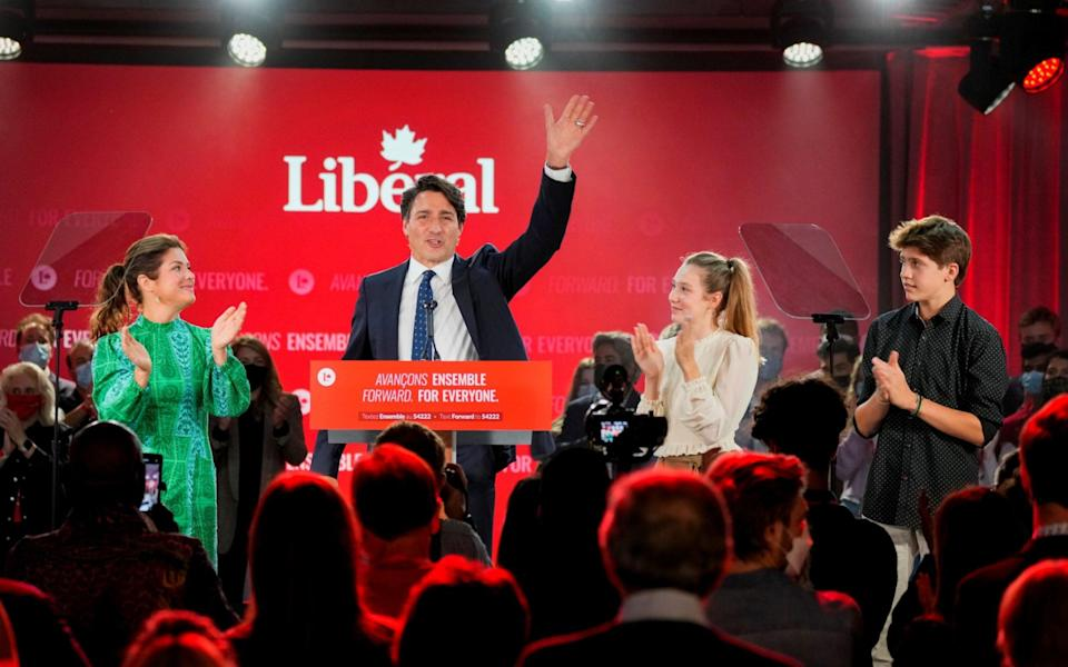 Canada's Liberal Prime Minister Justin Trudeau elected to third term - Carlos Osorio/Reuters