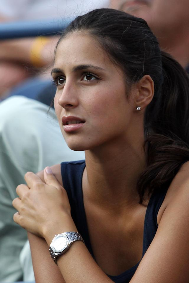 NEW YORK, NY - SEPTEMBER 02: Maria Francisca Perello watches Rafael Nadal of Spain play against Nicolas Mahut of France during Day Five of the 2011 US Open at the USTA Billie Jean King National Tennis Center on September 2, 2011 in the Flushing neighborhood of the Queens borough of New York City. (Photo by Nick Laham/Getty Images)