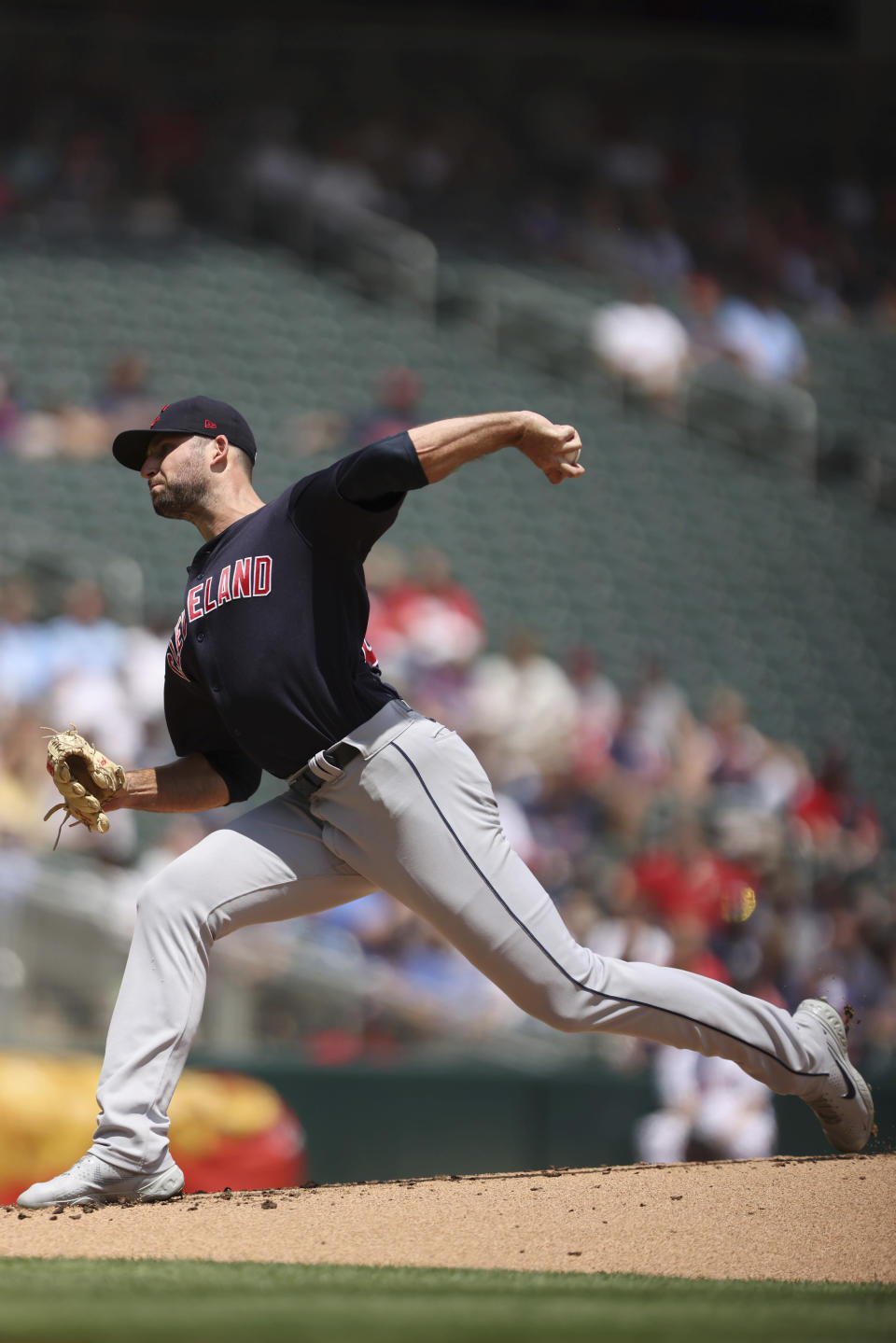 Cleveland Indians pitcher Sam Hentges (31 throws against the Minnesota Twins during the first inning of a baseball game, Sunday, June 27, 2021, in Minneapolis. (AP Photo/Stacy Bengs)