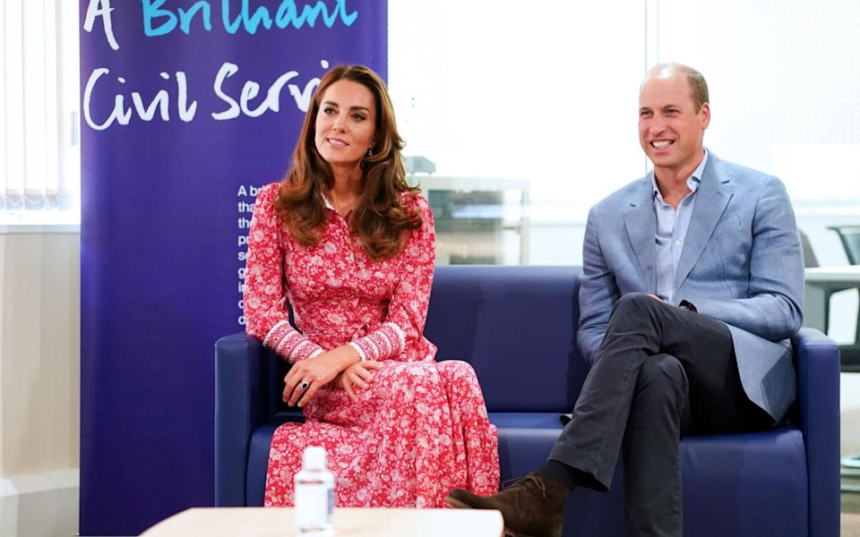 Prince William and Kate at the London Bridge Jobcentre - AFP