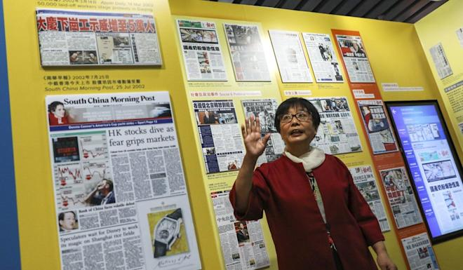 May Chan, vice-chairman of the Hong Kong News-Expo, said any protest exhibition will take time to compile. Photo: Nora Tam
