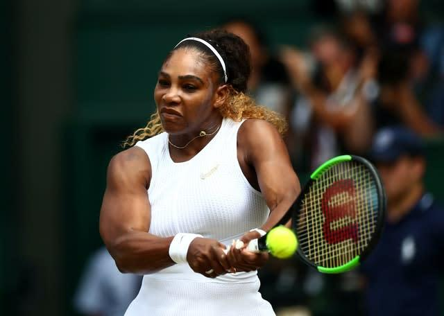 Serena Williams is one grand slam win short of Margaret Court's record (Hannah McKay/PA)
