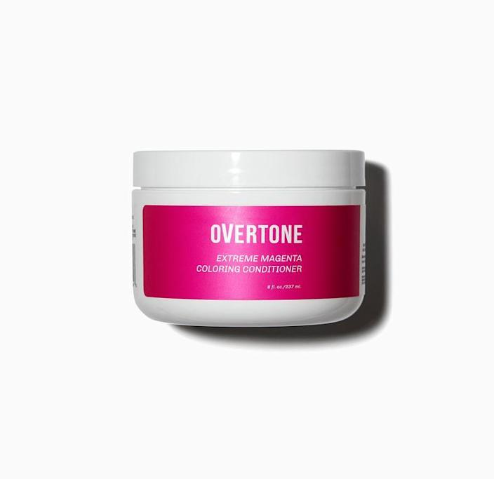 The Overtone Extreme Magenta Coloring Conditioner makes your upcoming hair transformation as easy as washing your hair. Slather the pigment-packed formula onto dry hair like a hair mask, wash it out after 10 to 15 minutes, and you'll be in the pink.