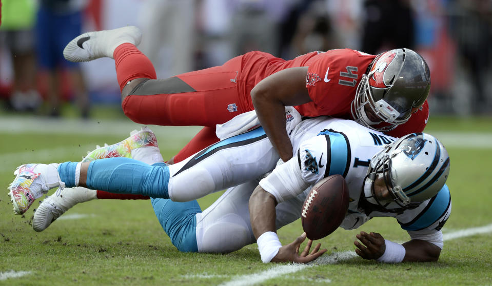 Cam Newton and the Carolina Panthers are on a four-game losing streak. (AP)