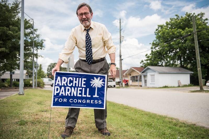 South Carolina DemocratArchie Parnell in 2017, when he unsuccessfully ran for a House seat in a special election. He is tryingto win the seat again this year, but details about his pasthave derailed his campaign.