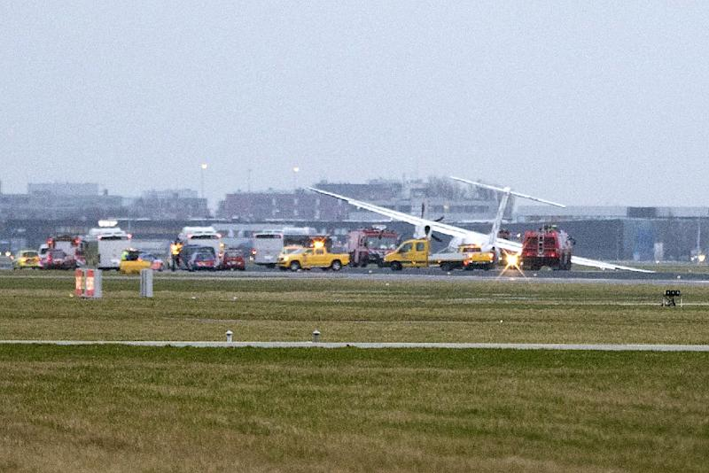Flybe plane crashes at Schiphol Airport amid high winds