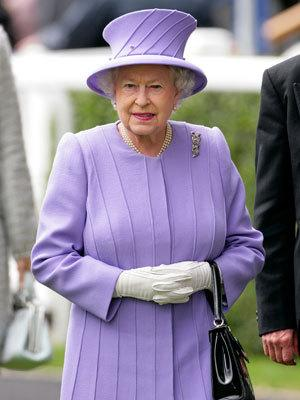 The Queen, a horse-racing enthusiast, looks resplendent in purple at Royal Ascot.