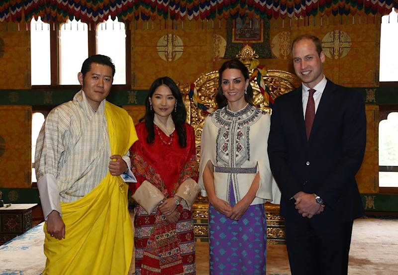 In this handout photograph released by the Royal Office for Media Bhutan on April 14, 2016