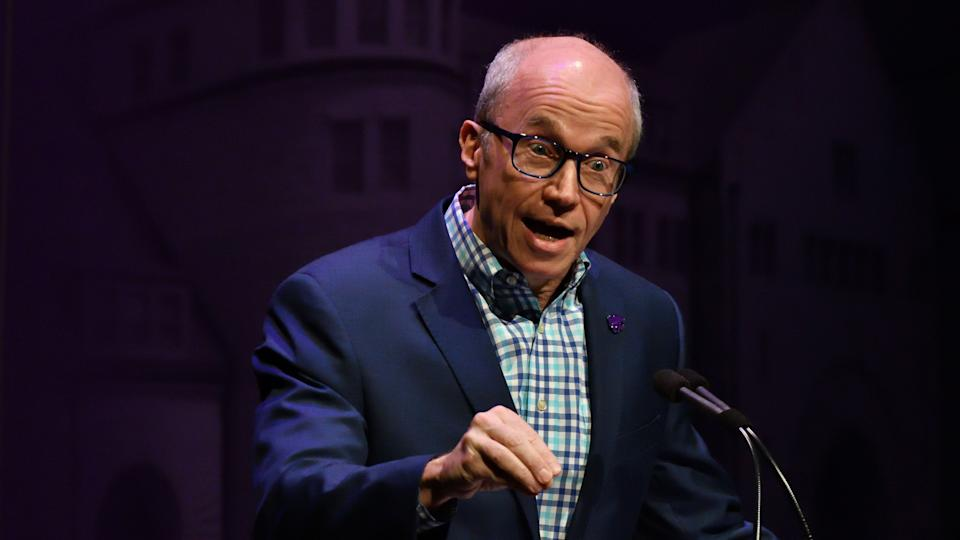Mandatory Credit: Photo by Mark Reinstein/Shutterstock (10428607e)Alan Murray the CEO of Fortune delivers a Landon Lecture titled 'The Future of Facts: Searching for the Truth in the 21st Century'Landon Lecture At Kansas State University, USA - 27 Sep 2019.