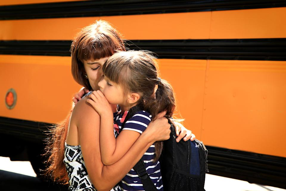The first day of kindergarten can be a hard one for parents. (Photo: Getty Images)