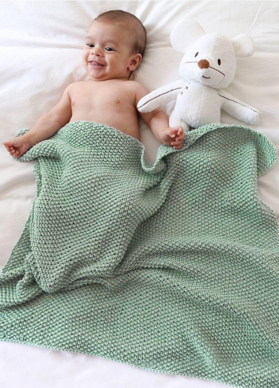 """<p><a class=""""link rapid-noclick-resp"""" href=""""https://www.weareknitters.co.uk/knitting-kit/knitting-levels/easy-level/dragonfly-blanket"""" rel=""""nofollow noopener"""" target=""""_blank"""" data-ylk=""""slk:BUY NOW"""">BUY NOW</a> <strong>£45, We Are Knitters</strong></p><p><a href=""""https://www.weareknitters.co.uk/"""" rel=""""nofollow noopener"""" target=""""_blank"""" data-ylk=""""slk:We Are Knitters"""" class=""""link rapid-noclick-resp"""">We Are Knitters</a> has an extensive range of beginners knitting kits, including this super-cute, soft baby blanket kit – which is available in a whole host of colours.</p><p><strong>What's in the kit:</strong> This is the most comprehensive list of contents, two skeins of Pima cotton (100g), 5mm knitting needles, the pattern, a smaller knitter's sewing needle, and the embroidered label.</p><p><strong>Best for: </strong>Little bundles of joy.</p>"""