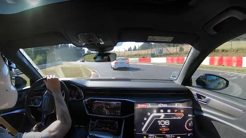 Watch The 2021 Audi RS6 Avant Lap The Nurburgring From The Driver's Seat