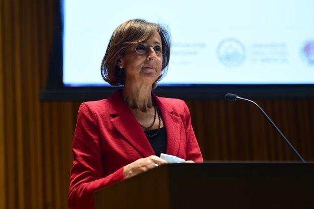 MILAN, ITALY - JUNE 28:  The Minister of Justice Marta Cartabia during her speech at Universita Statale  on June 28, 2021 in Milan, Italy. The Minister of Justice Marta Cartabia meets the Lombard legal faculties at Universita Statale.  (Photo by Pier Marco Tacca/Getty Images) (Photo: Pier Marco Tacca via Getty Images)