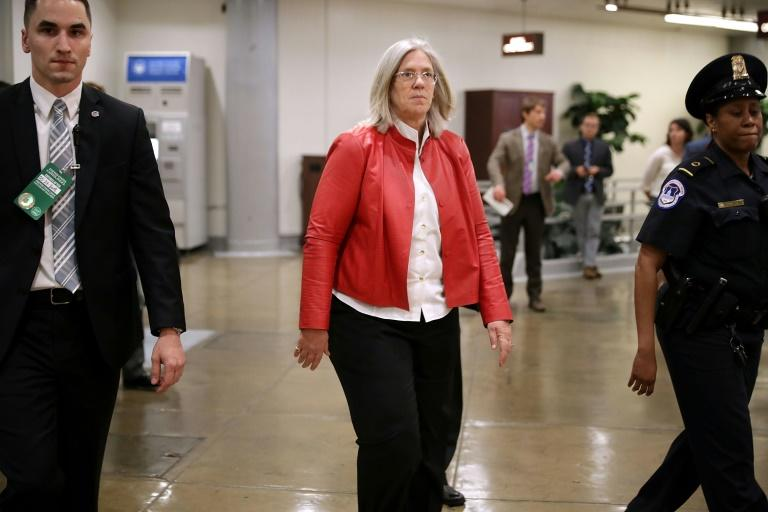 Deputy Director of National Intelligence Sue Gordon, pictured in May 2018, spent 25 years at the CIA (AFP Photo/CHIP SOMODEVILLA)