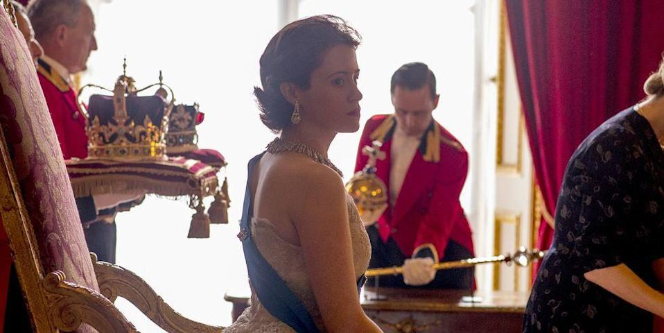 """<p>Unsurprisingly, <em>The Crown</em> wasn't able to film in the actual Buckingham Palace. To recreate the Palace for the show, the research team took tours of the Palace—public tours. """"We went on tours,"""" Annie Sulzberger, who leads the research team, told <a href=""""http://www.refinery29.uk/2017/12/185708/the-crown-set-buckingham-palace-filming"""" rel=""""nofollow noopener"""" target=""""_blank"""" data-ylk=""""slk:Refinery 29"""" class=""""link rapid-noclick-resp""""><em>Refinery 29</em></a>. """"Like any other members of the public—and they had no idea why we were there.""""</p>"""