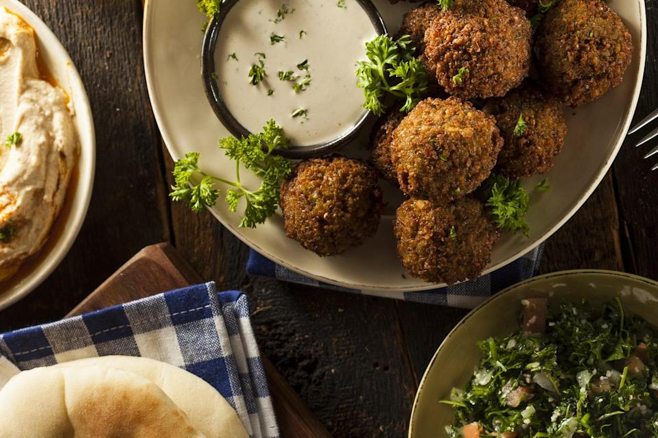 """Freshly made falafel is one of this planet's most wonderful bites. And this year, you made your own at home. <a href=""""https://www.epicurious.com/recipes/food/views/my-favorite-falafel-231755?mbid=synd_yahoo_rss"""" rel=""""nofollow noopener"""" target=""""_blank"""" data-ylk=""""slk:See recipe."""" class=""""link rapid-noclick-resp"""">See recipe.</a>"""