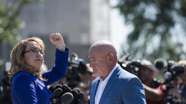 WASHINGTON ― As they have done time and again following mass shootings, former Rep. Gabby Giffords (D-Ariz.) and her husband, former astronaut Mark Kelly, on Monday implored Congress to take legislative action in response to Sunday night's Las Vegas massacre, the deadliest mass shooting in recent U.S. history.