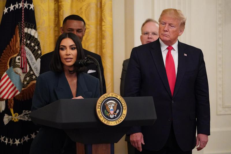 Kardashian at the White House discussing criminal justice reform (Getty Images)