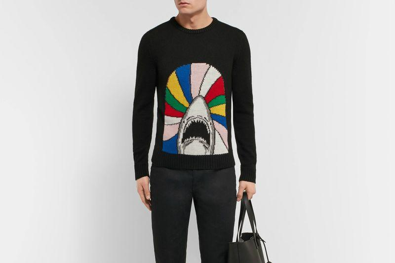 Man wearing Saint Laurent Sweater