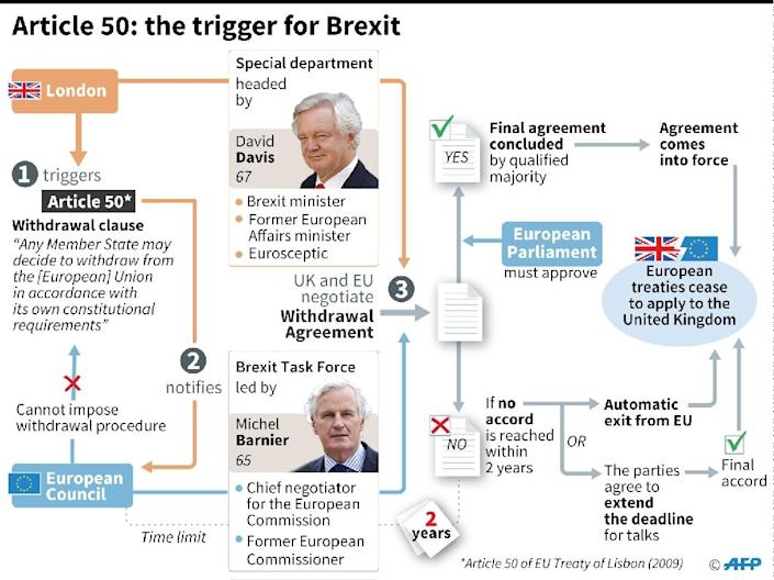 Article 50: the mechanism that triggers the Brexit talks (AFP Photo/)