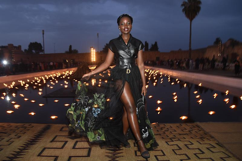 MARRAKECH, MOROCCO - APRIL 29: Actress Lupita Nyong'o attends the Christian Dior Couture S/S20 Cruise Collection on April 29, 2019 in Marrakech, Morocco. (Photo by Stephane Cardinale - Corbis/Corbis via Getty Images)