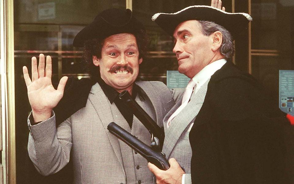 Bobby Ball and Tommy Cannon, in 1987 - Getty