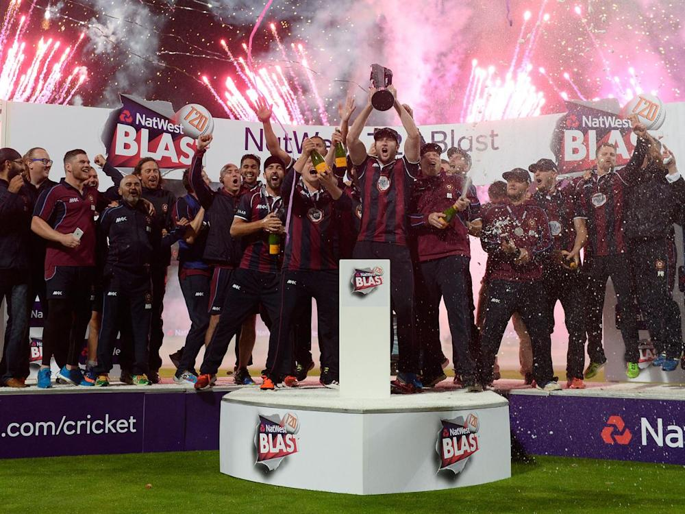 Northamptonshire celebrate after winning the Natwest T20 Blast (Getty)