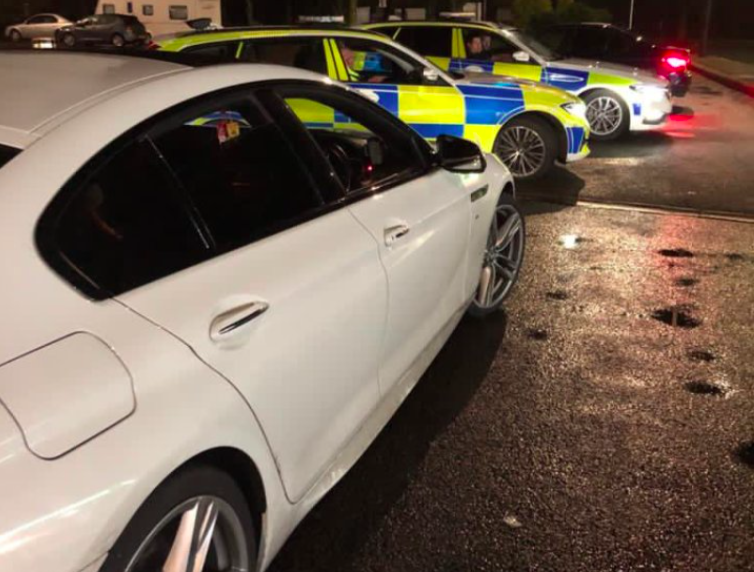 The driver of the BMW faces 107 penalty points after setting off 32 speed cameras. (Twitter/@CMPG)