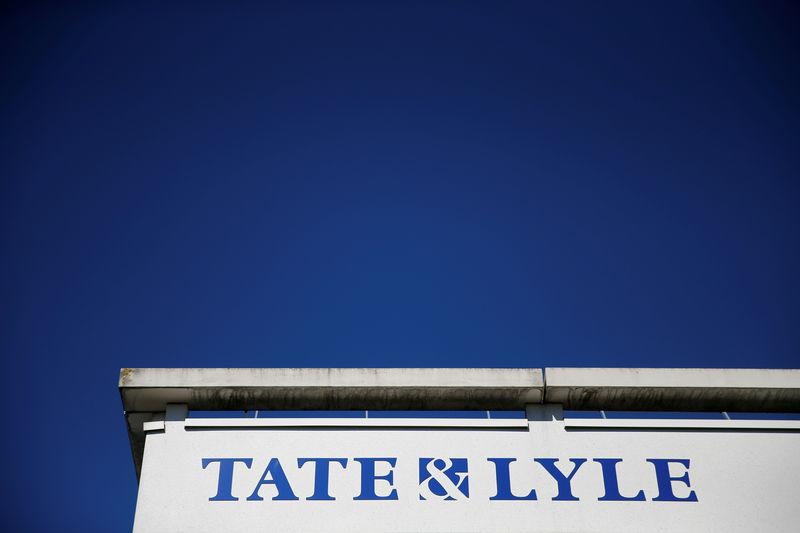 The logo of Tate & Lyle compagny is seen on their European Innovation Centre in Villeneuve d'Ascq
