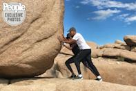 """<p>After leaving the White House, the pair went on a vacation to Joshua Tree, and """"pushed"""" around this big boulder. Fitting, considering Barack has called Michelle his rock. </p> <p>He <a href=""""https://www.youtube.com/watch?v=FTs-IMVSNKY"""" rel=""""nofollow noopener"""" target=""""_blank"""" data-ylk=""""slk:told Oprah Winfrey"""" class=""""link rapid-noclick-resp"""">told Oprah Winfrey</a> in 2011, """"Obviously I couldn't have done anything that I've done without Michelle. Not only has she been a great first lady, she is just my rock. I count on her in so many ways every single day.""""</p>"""