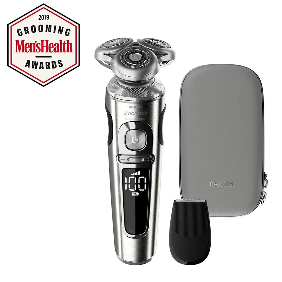 """<p><strong>Philips Norelco</strong></p><p>amazon.com</p><p><strong>$279.99</strong></p><p><a href=""""http://www.amazon.com/dp/B07GZ41LYJ/?tag=syn-yahoo-20&ascsubtag=%5Bartid%7C2139.g.21347829%5Bsrc%7Cyahoo-us"""" target=""""_blank"""">BUY IT HERE</a></p><p>An electric razor that doesn't pull or irritate your skin, even during the adjustment period? Yes, please. You can use this one for both wet and dry shaving with minimal irritation and the cool charging pad will even charge your iPhone.</p>"""