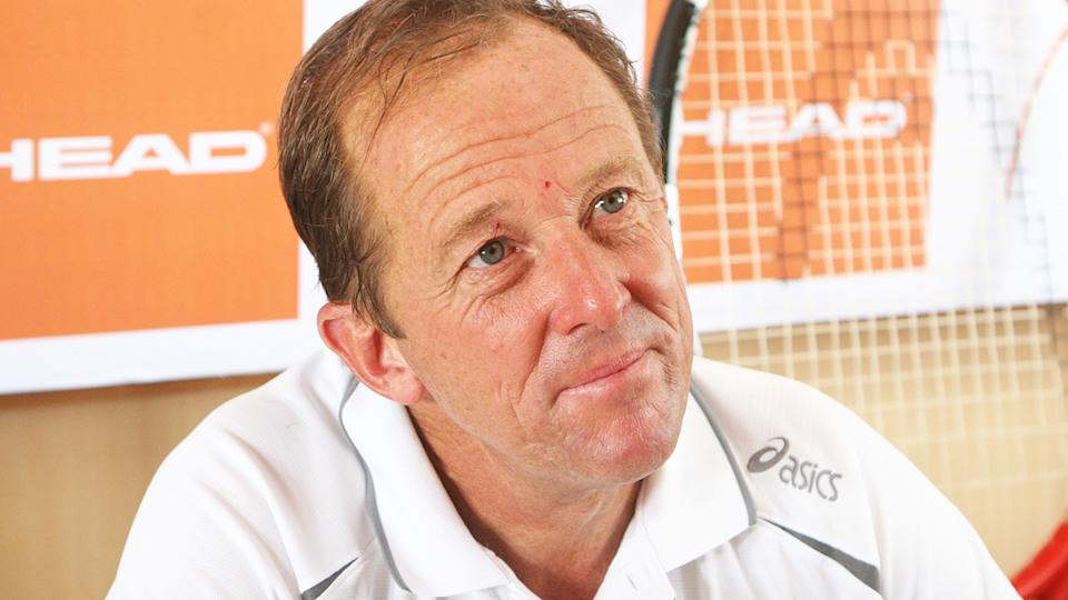 Australian tennis coach Bob Brett is pictured during a press conference as head coach of Japan's Davis Cup team in 2007. Brett died on January 5, aged 67. (Photo by Sarang Sena/The The India Today Group via Getty Images)