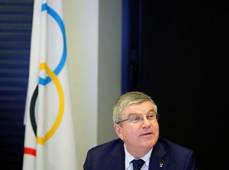 International Olympic Committee (IOC) President Thomas Bach arrives for an Executive Board meeting in Pully near Lausanne, Switzerland December 6, 2017. REUTERS/Denis Balibouse